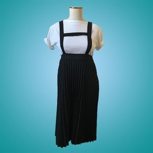 Vintage 90s Suspender Pleated Skirt